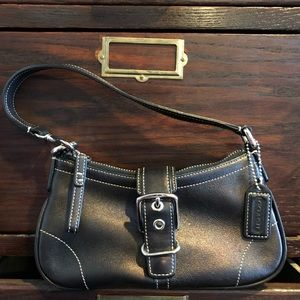 Coach Mini Brown Leather Bag